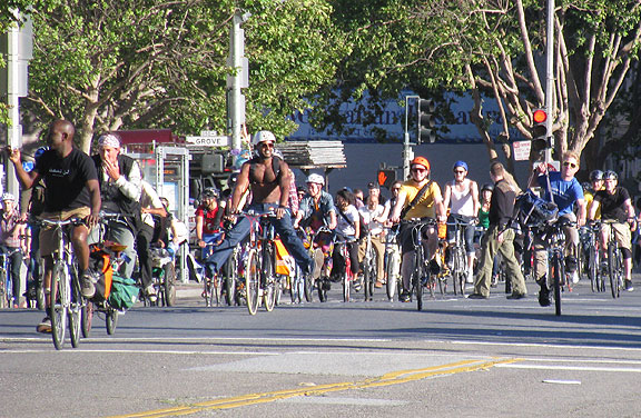 June 2013 Critical Mass on Larkin in Civic Center.