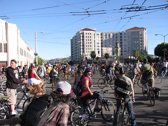 "Another ""circling up"" at Mission and South Van Ness in June 2013."