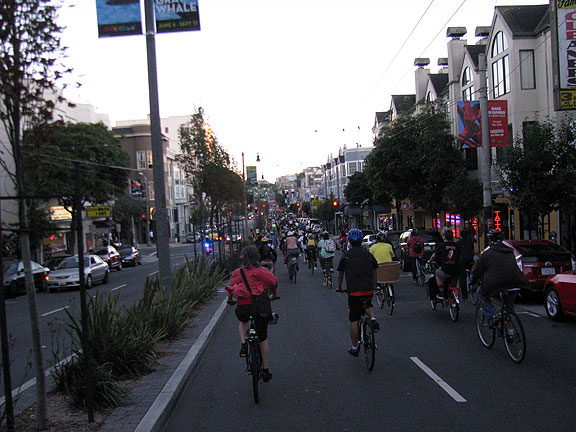 Later the folks who managed to stick together made it all the way along Geary to Divisadero and went south on Divis...